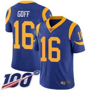 Rams Jared Goff 100th Season Jersey 2